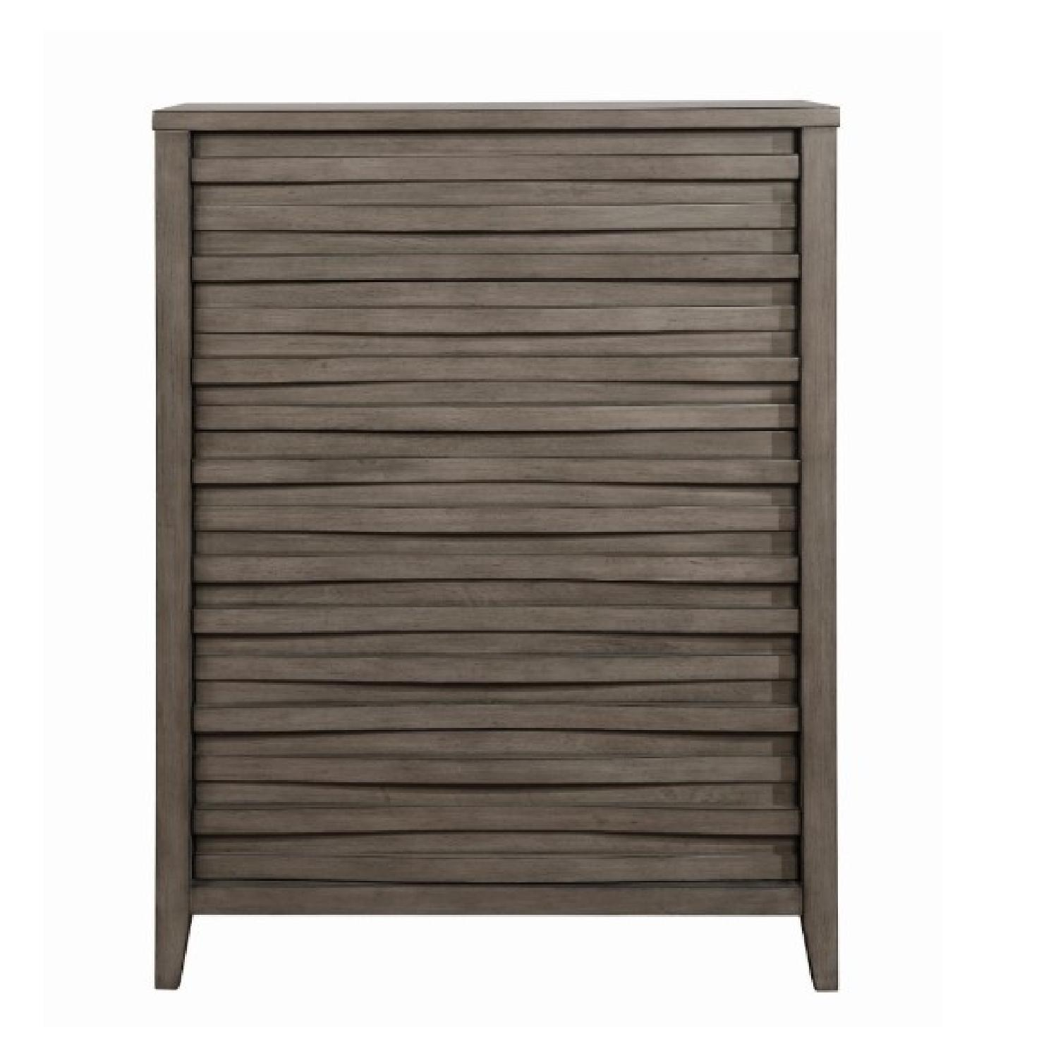 Modern Chest in Dark Taupe w/ Wave-Like Drawer Face - image-3