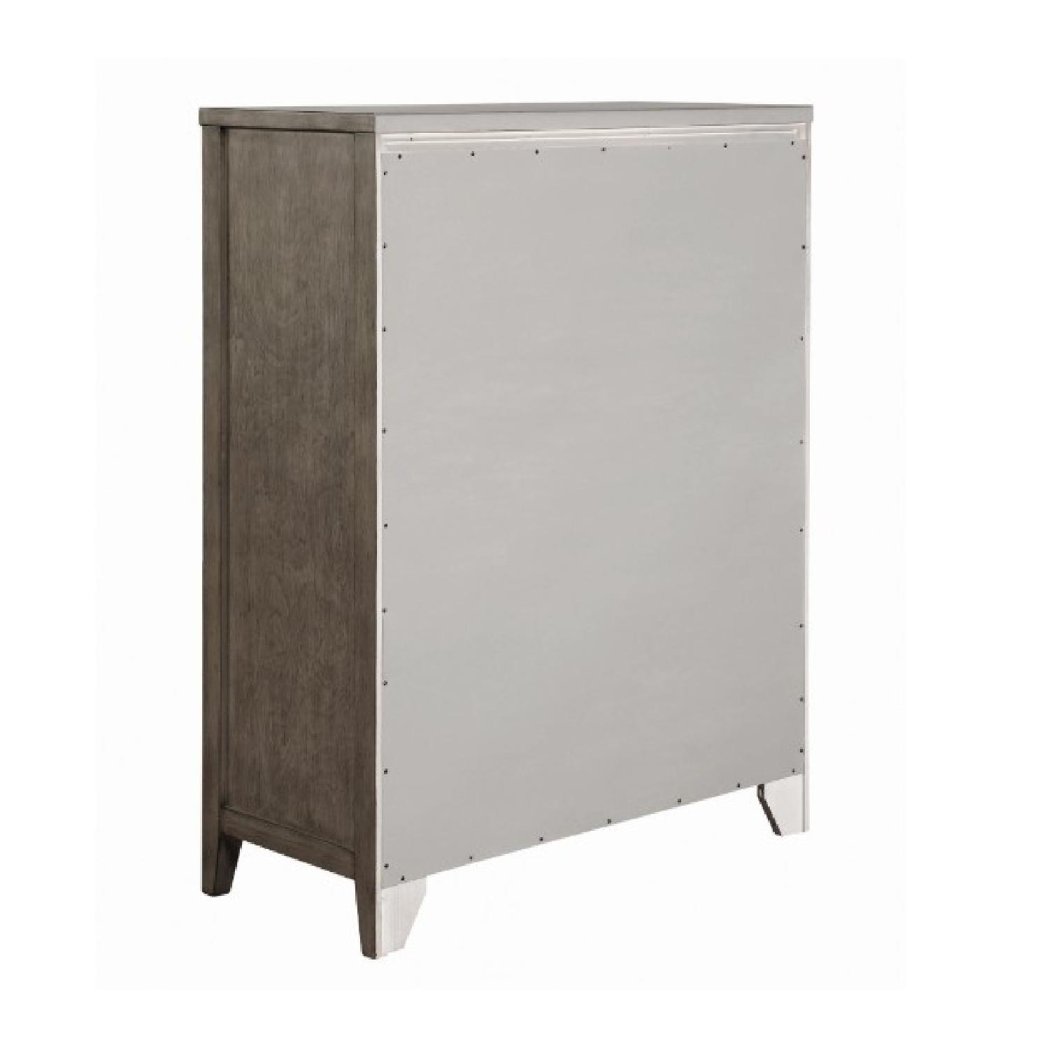 Modern Chest in Dark Taupe w/ Wave-Like Drawer Face - image-4