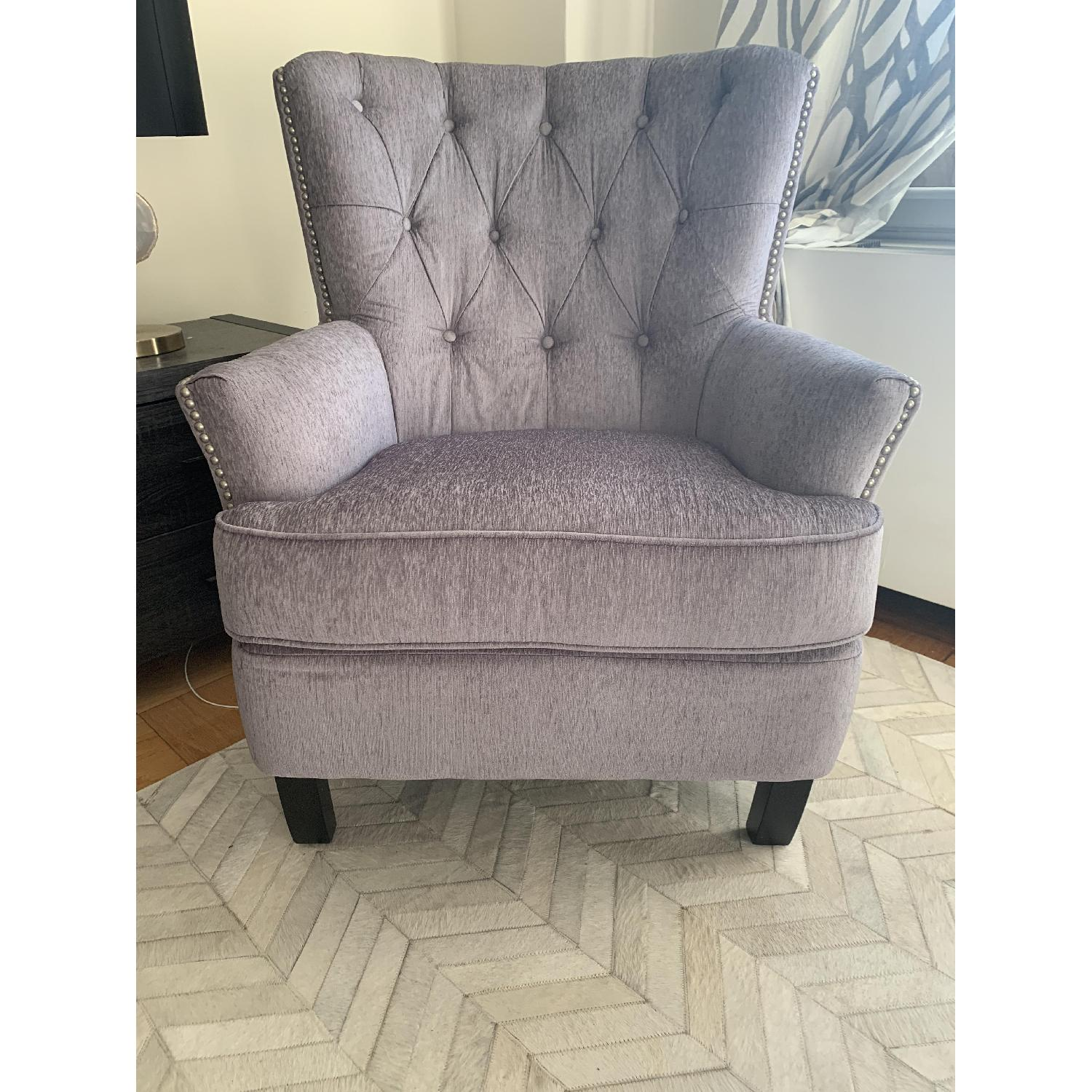 World Market Silver Accent Chair - image-1