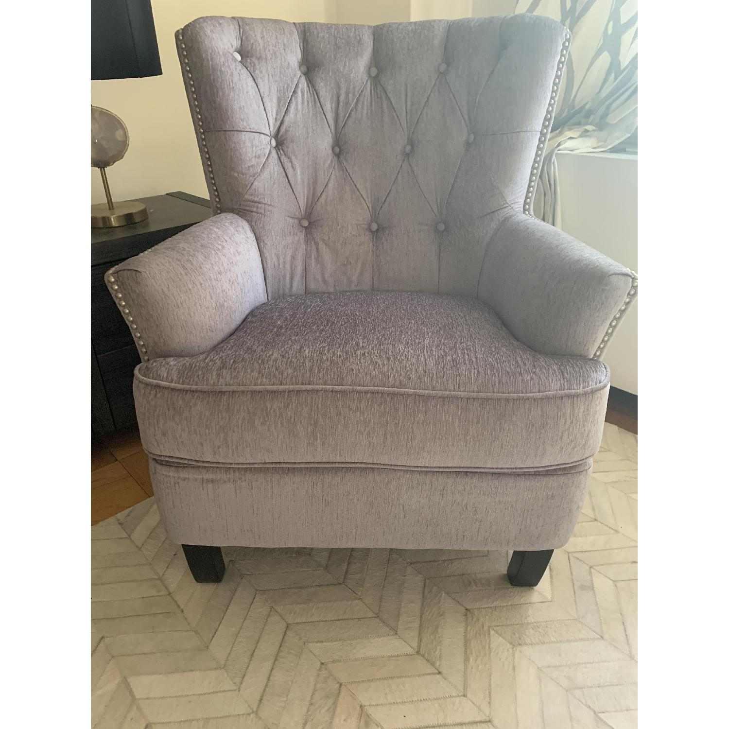 World Market Silver Accent Chair - image-2