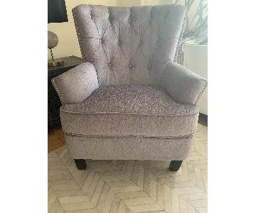World Market Silver Accent Chair