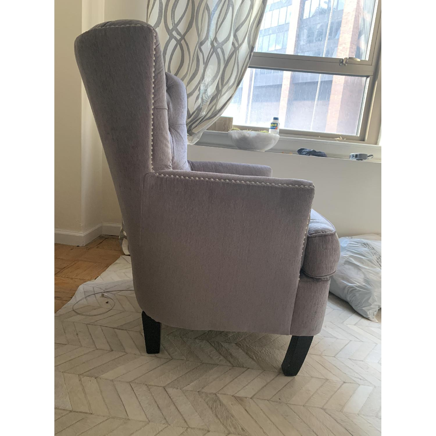 World Market Silver Accent Chair - image-3