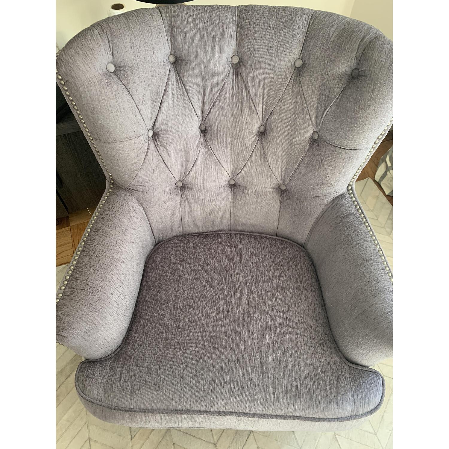 World Market Silver Accent Chair - image-5