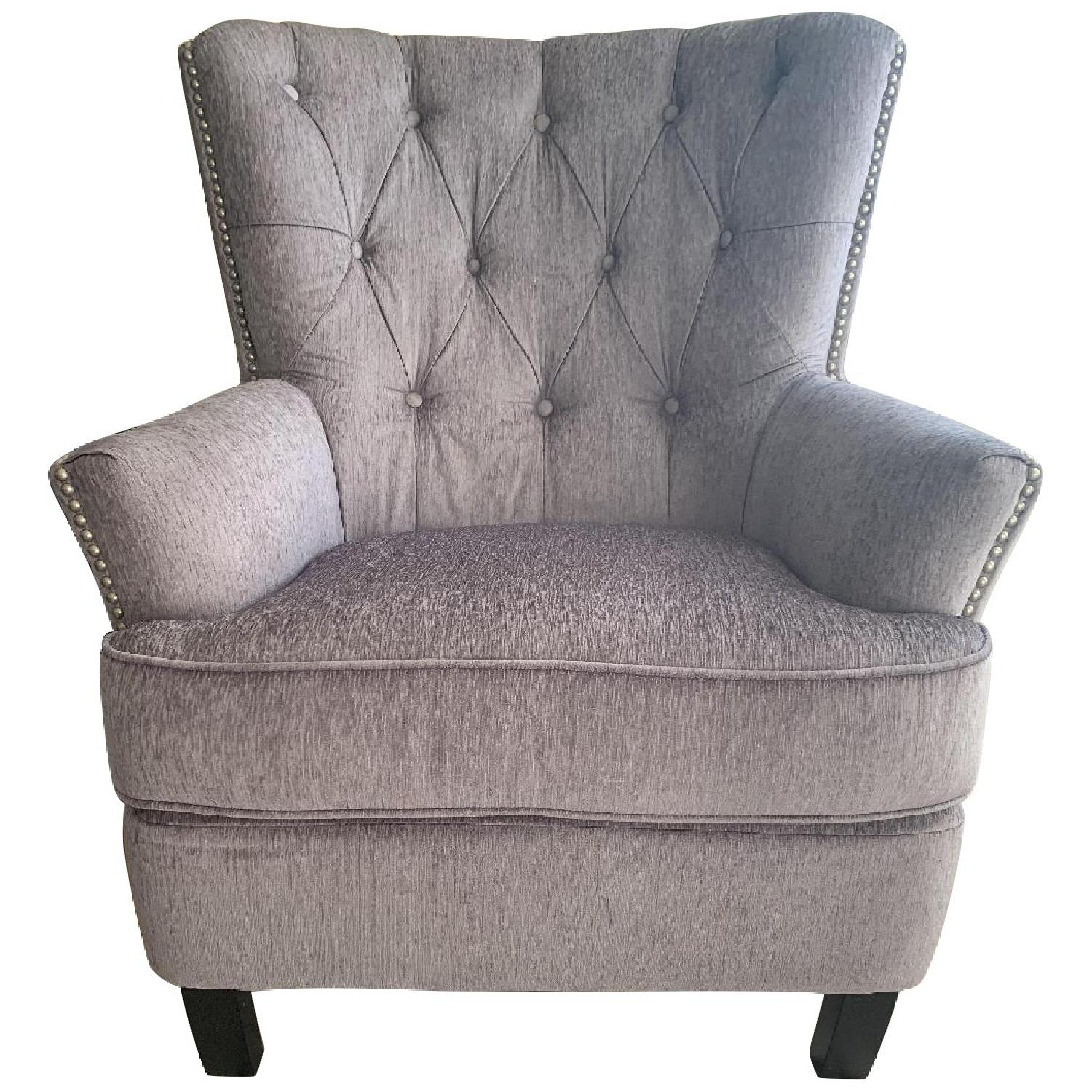 World Market Silver Accent Chair - image-0