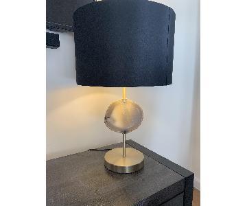 Stone Quartz Lamp w/ Black Shade