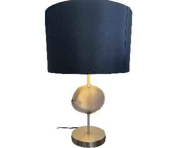 Stone Quartz Lamp w/ Black Shade