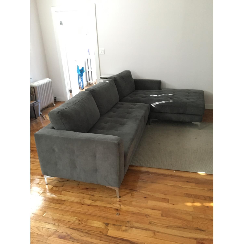 Baxton Studio Right Facing Sectional Sofa - image-2