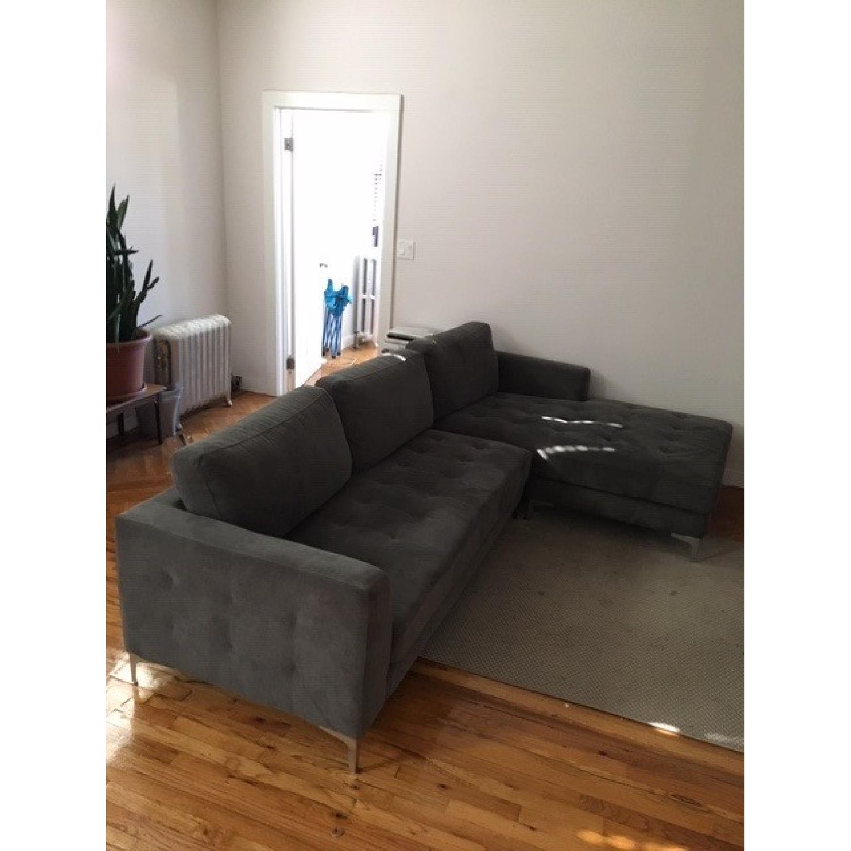 Baxton Studio Right Facing Sectional Sofa - image-3
