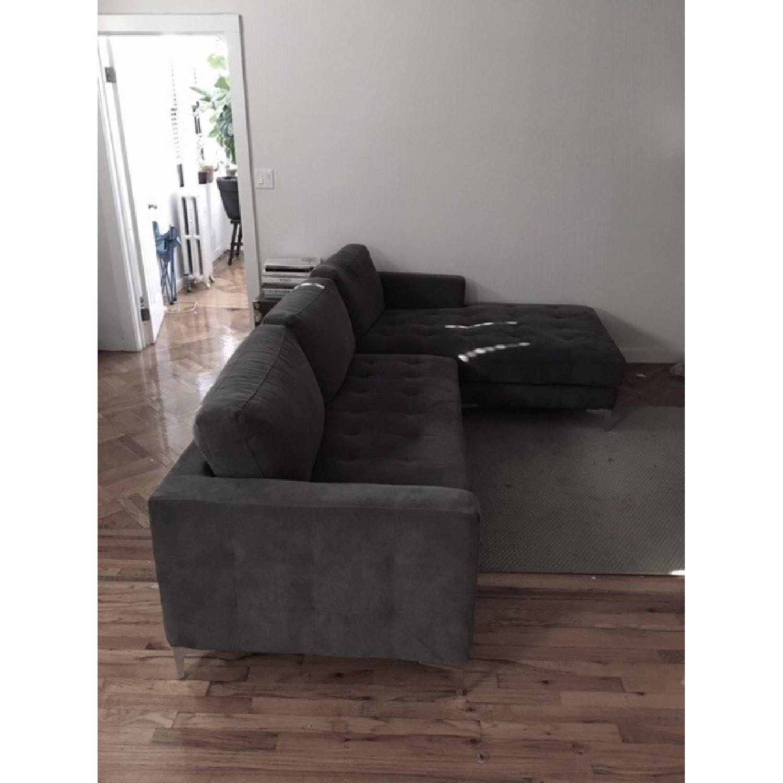Baxton Studio Right Facing Sectional Sofa - image-5
