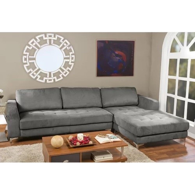 Baxton Studio Right Facing Sectional Sofa - image-6