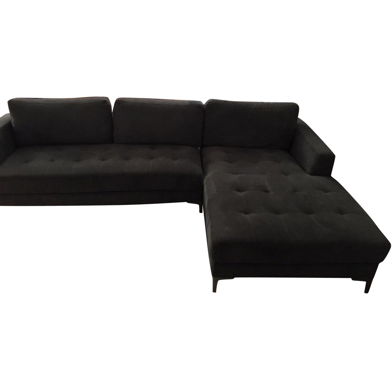 Baxton Studio Right Facing Sectional Sofa - image-0