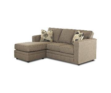 Jennifer Convertibles 3-Seater Sleeper Sectional Sofa