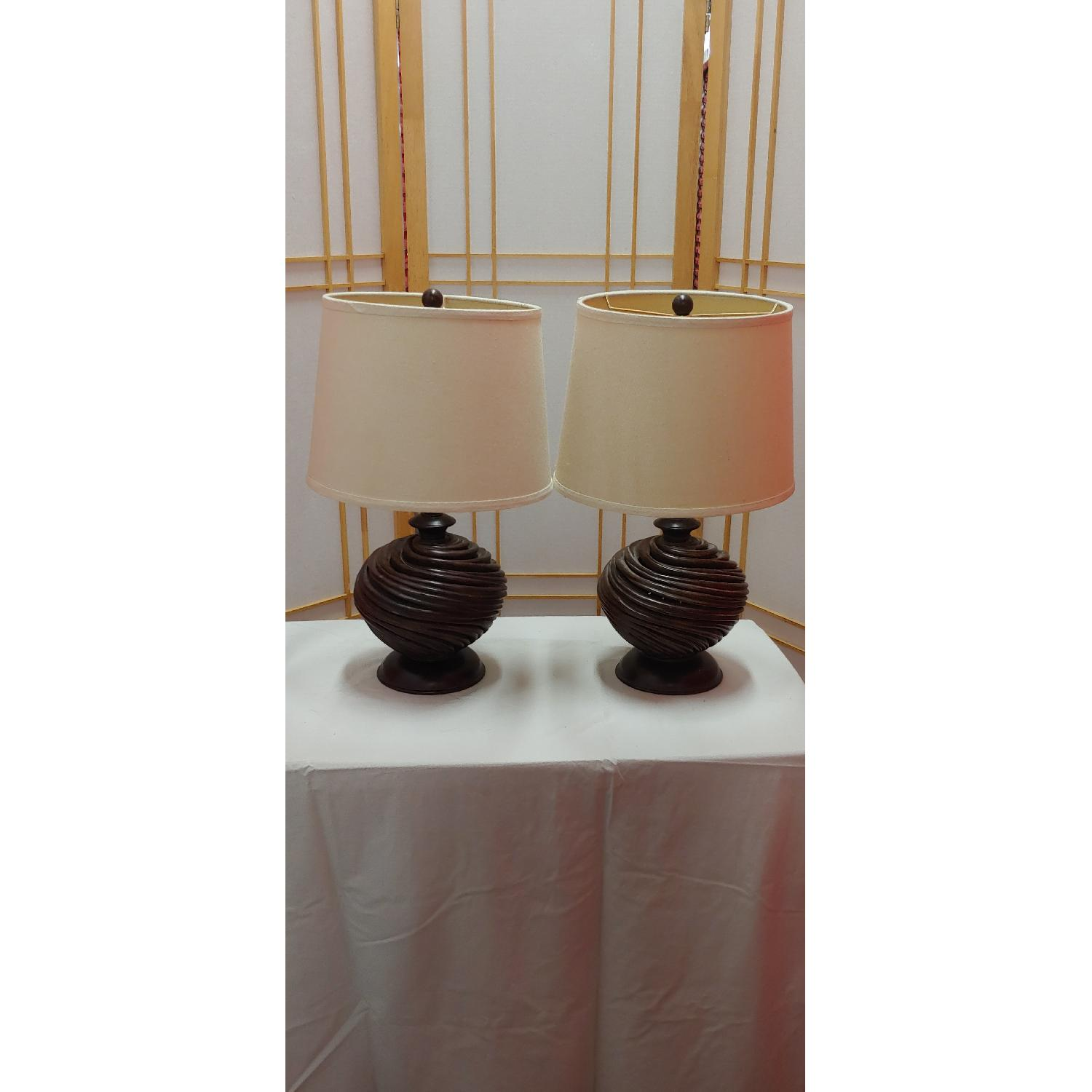 Brown Table Lamps - image-1