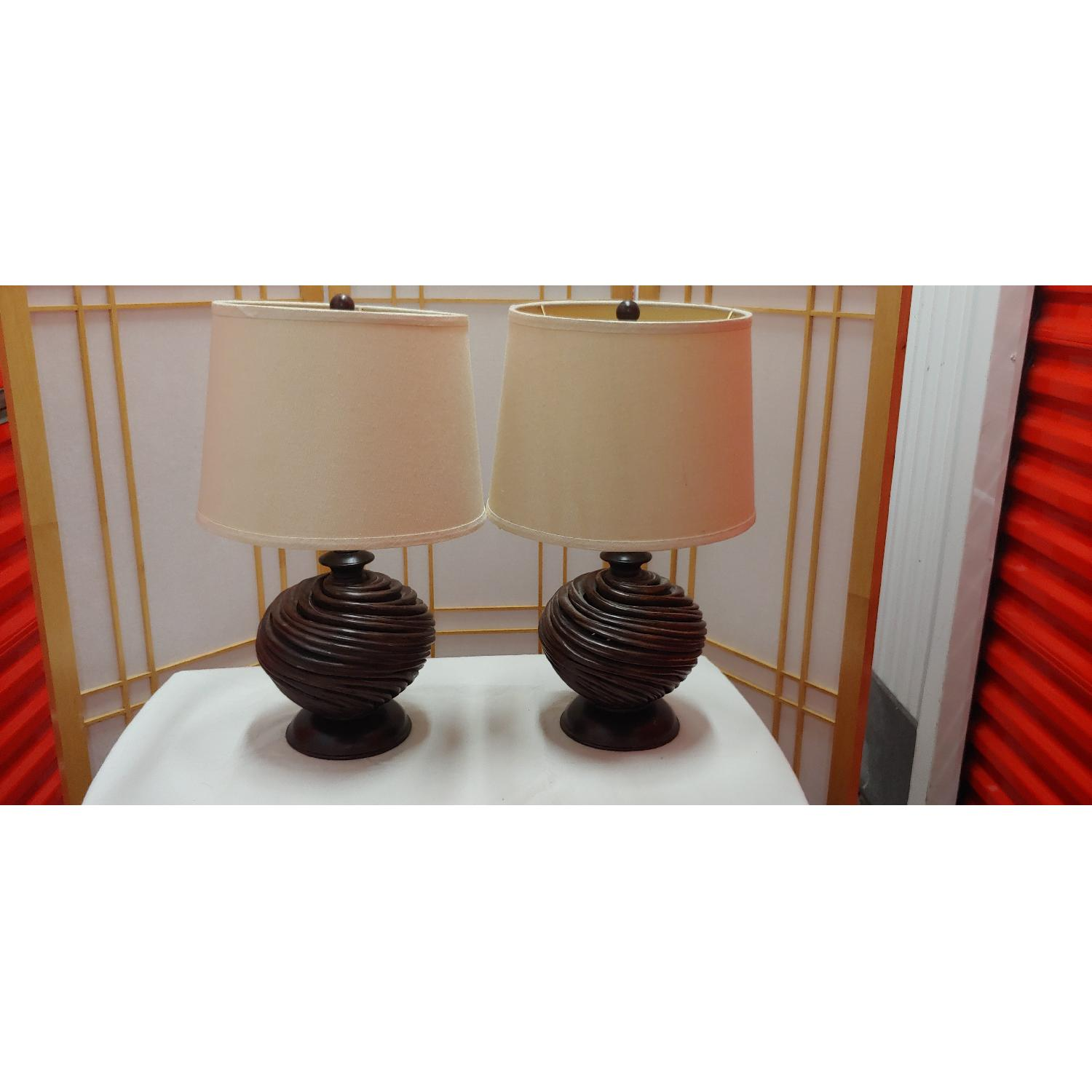 Brown Table Lamps - image-3