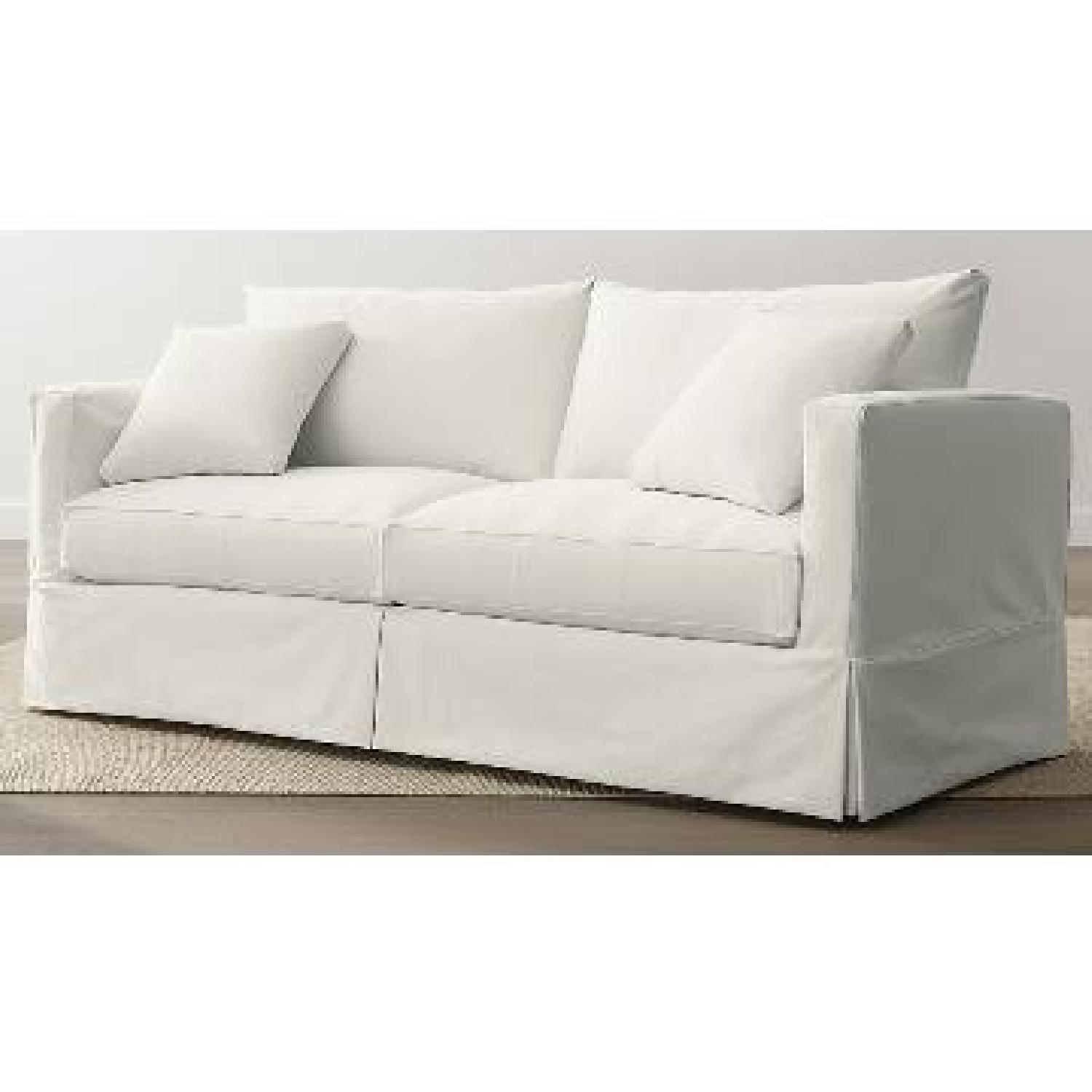 Crate & Barrel Willow Queen Sleeper Sofa - image-1