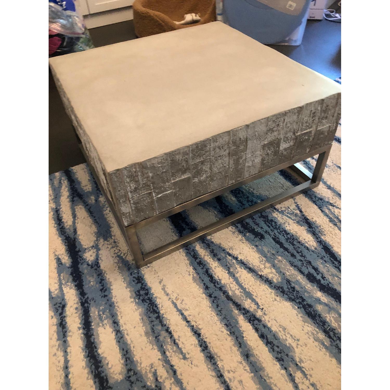 West Elm Concrete + Chrome Coffee Table - image-1