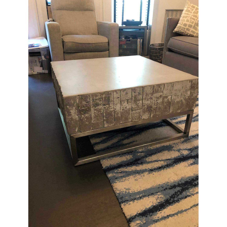 West Elm Concrete + Chrome Coffee Table - image-2
