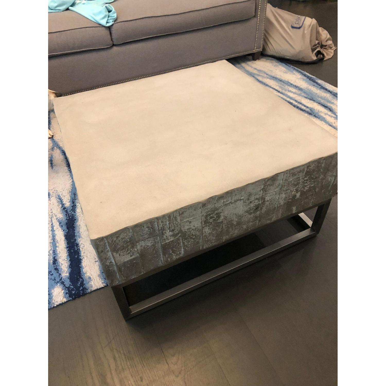 West Elm Concrete + Chrome Coffee Table - image-3