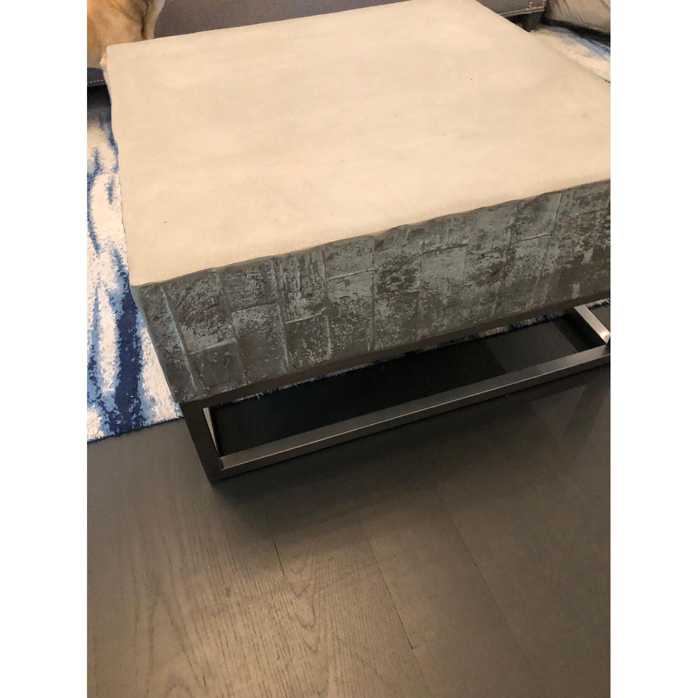 West Elm Concrete + Chrome Coffee Table - image-4