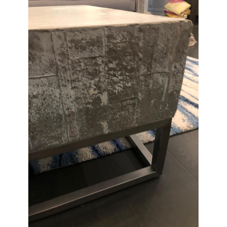 West Elm Concrete + Chrome Coffee Table - image-5