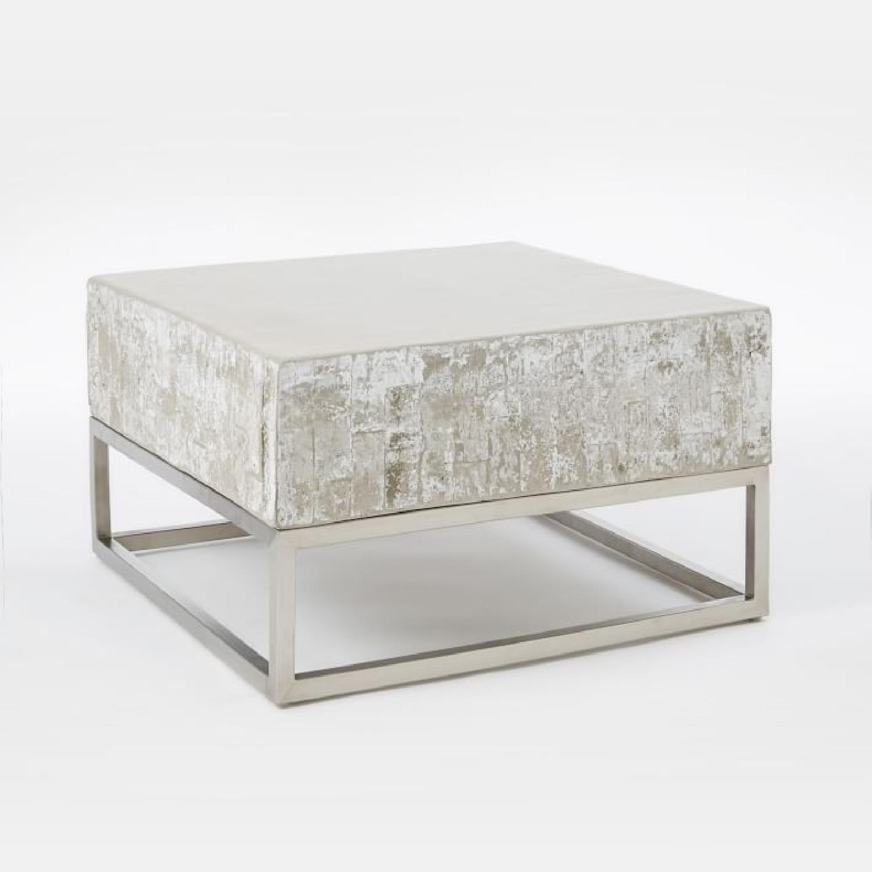 West Elm Concrete + Chrome Coffee Table - image-6