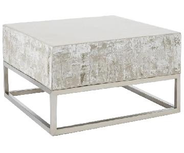West Elm Concrete + Chrome Coffee Table