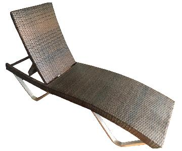Wade Logan Wicker & Aluminum Chaise Lounge