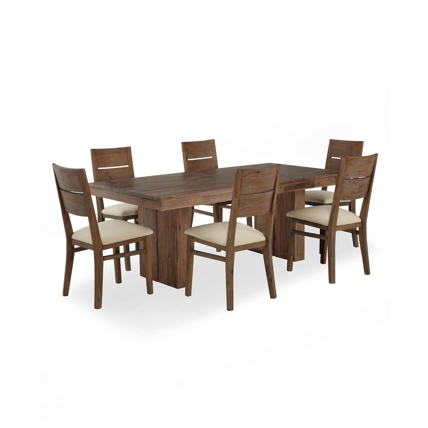 Macy's Champagne 7 Piece Dining Set - image-0