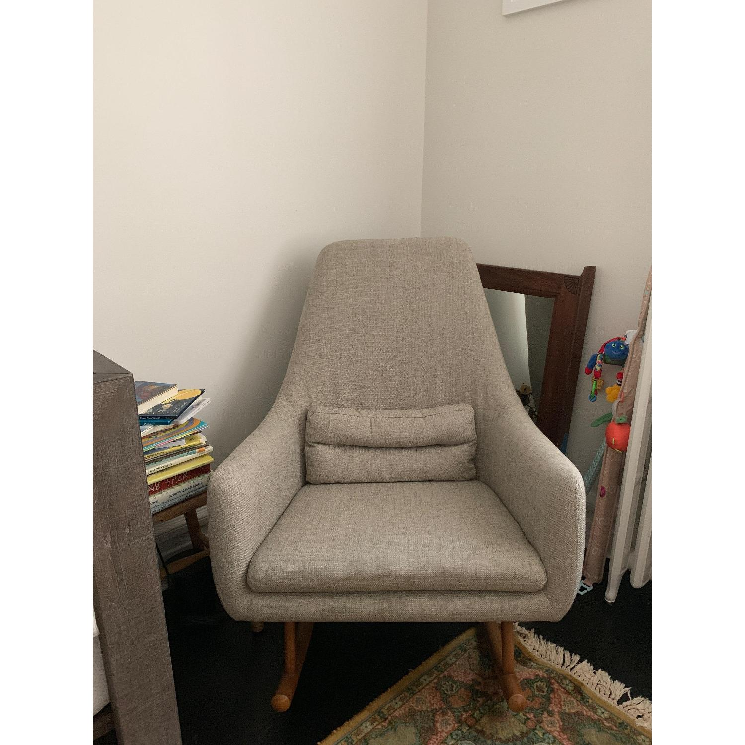 CB2 Saic Quantam Rocking Chair - image-1