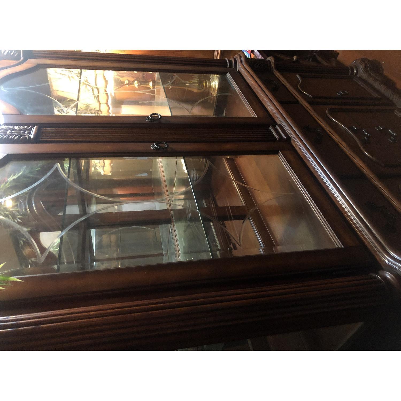 Wood China Cabinet - image-1