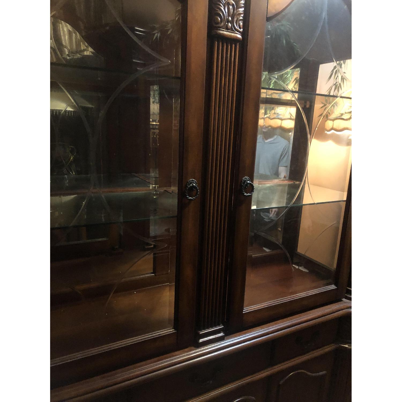 Wood China Cabinet - image-2