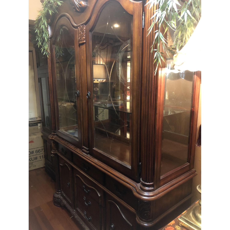 Wood China Cabinet - image-3