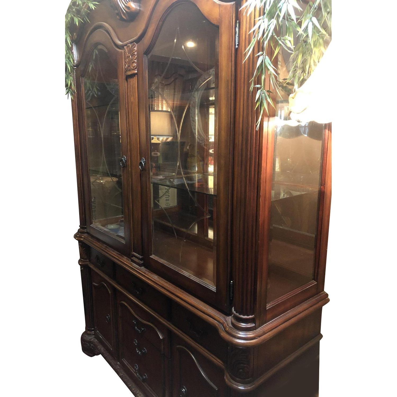 Wood China Cabinet - image-0
