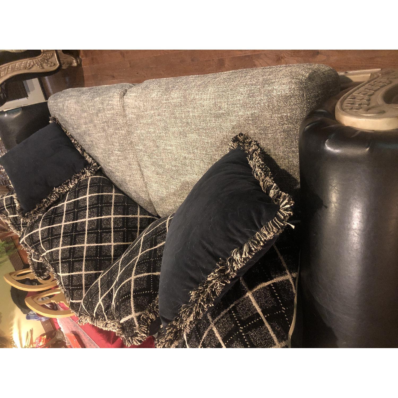 Jennifer Convertibles Leather & Fabric Sofa - image-1