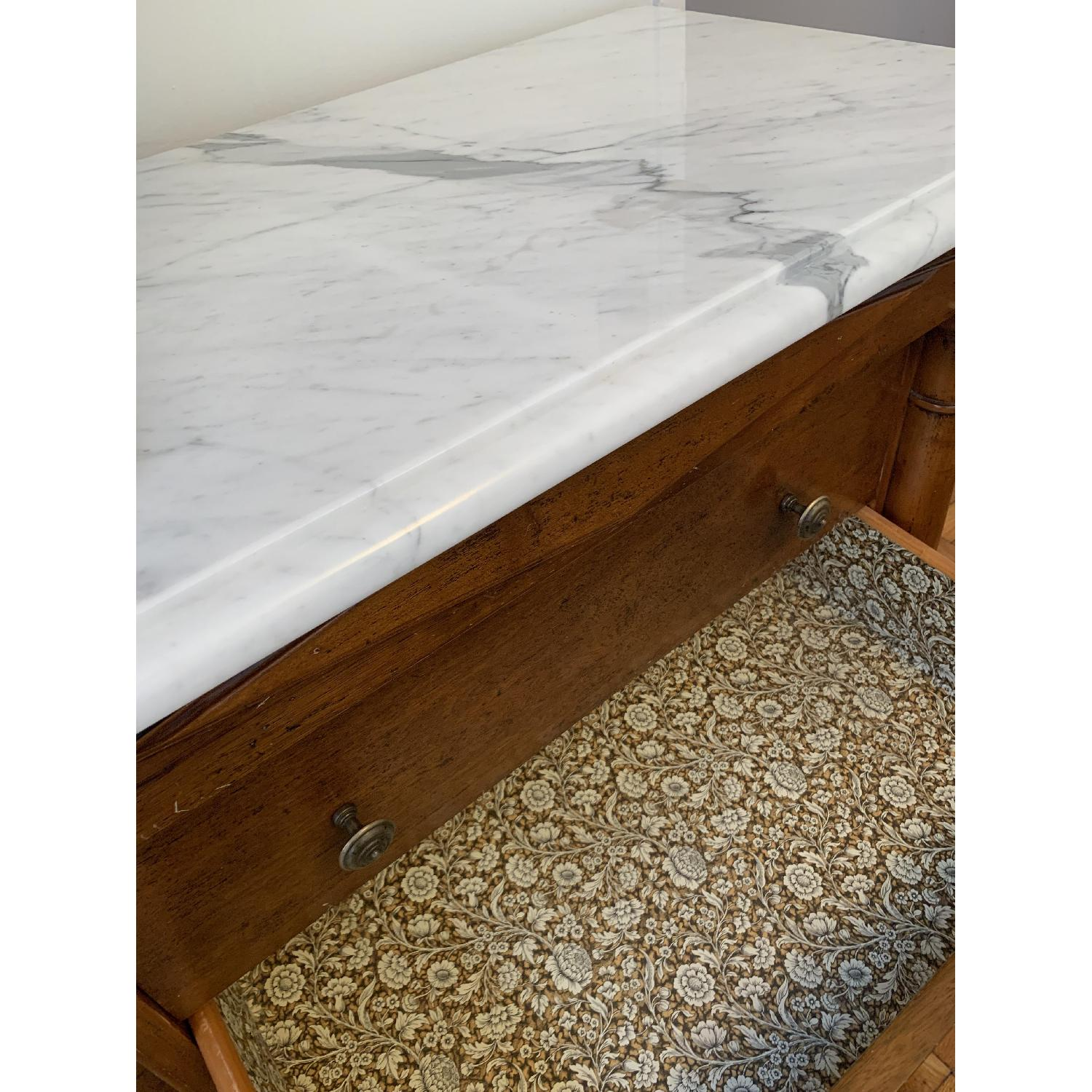 Bloomingdale's Statuary Marble Top Wood 8-Drawer Dresser - image-2