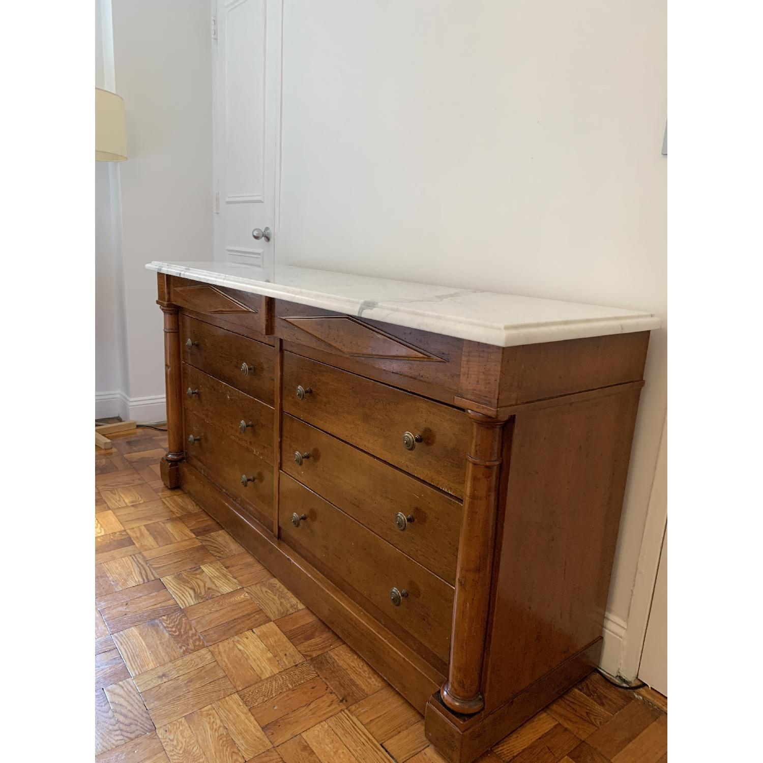 Bloomingdale's Statuary Marble Top Wood 8-Drawer Dresser - image-4