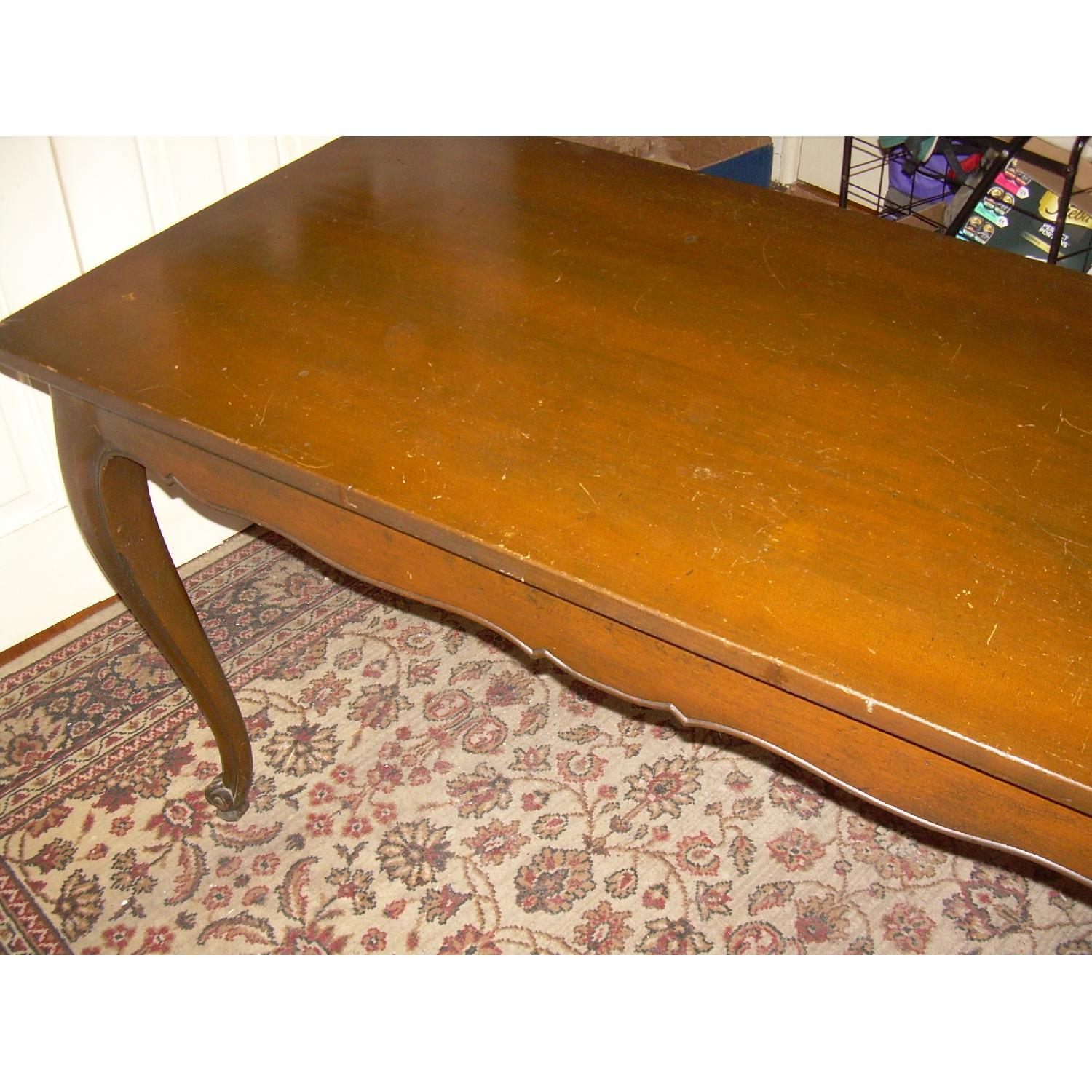 Vintage Brown Wood Entryway/Console Table - image-4