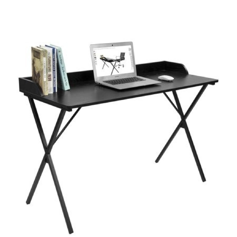 Aingoo Black Writing Computer Desk - image-0
