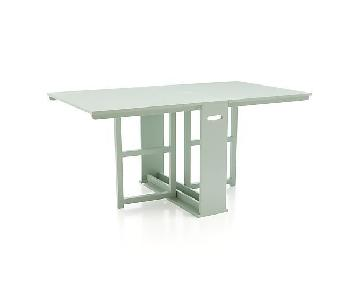 Crate & Barrel Span Gateleg Dining Table