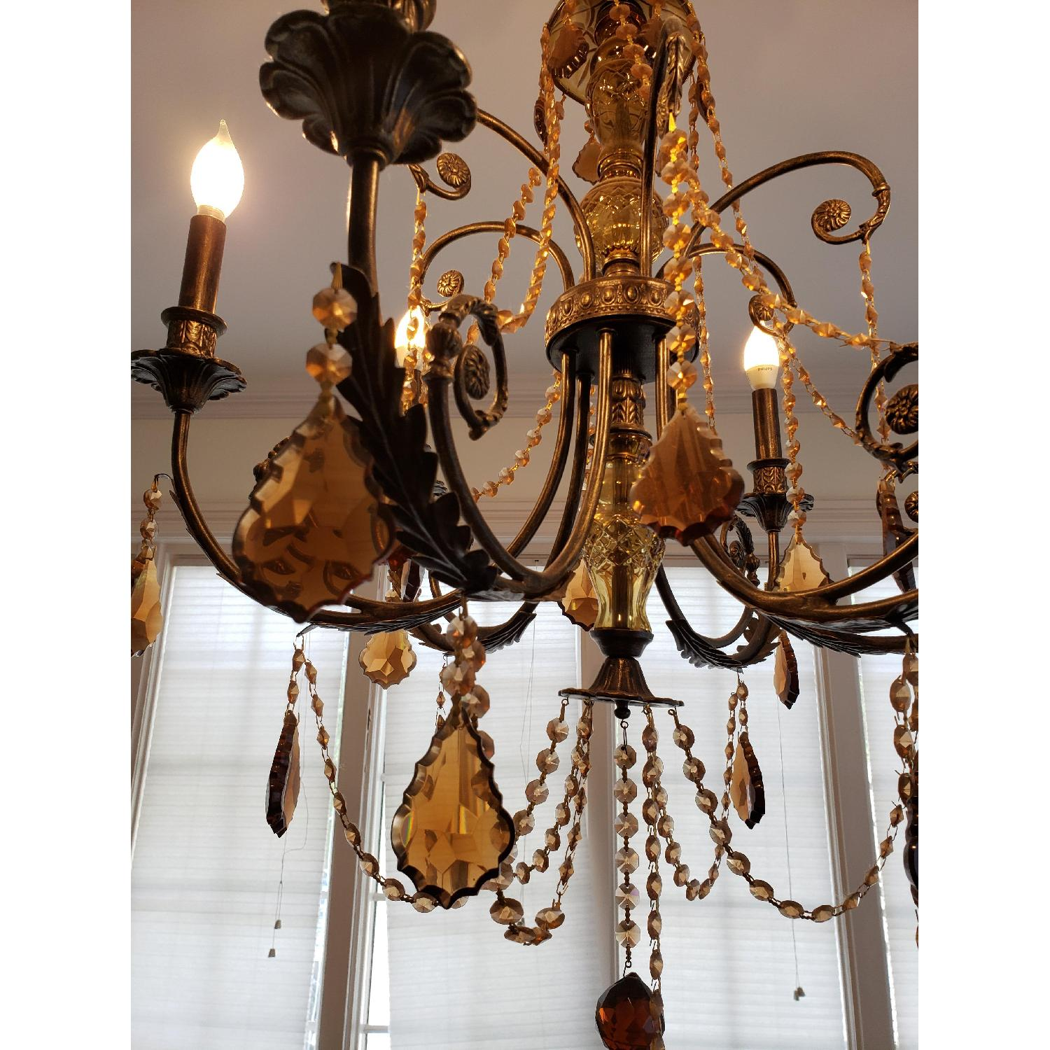 Horchow Amber Crystal Chandelier - image-2