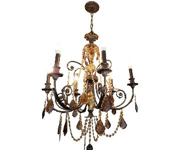 Horchow Amber Crystal Chandelier