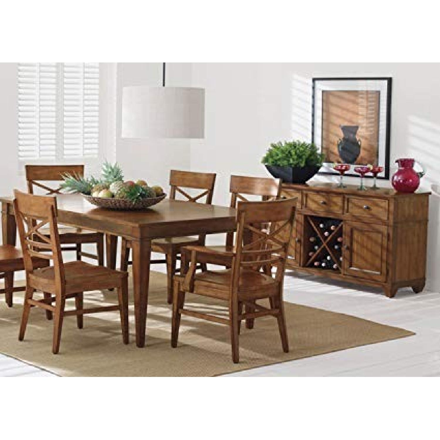 Ethan Allen Extension Dining Table w/ 6 Chairs - image-1