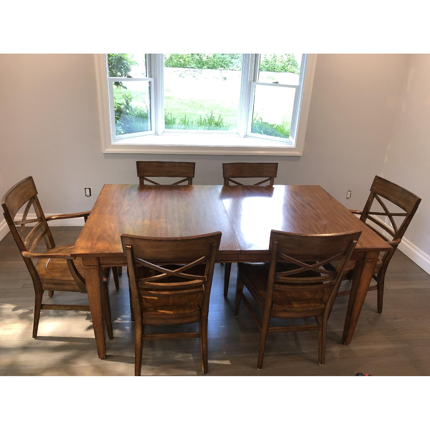 Ethan Allen Extension Dining Table w/ 6 Chairs - image-2