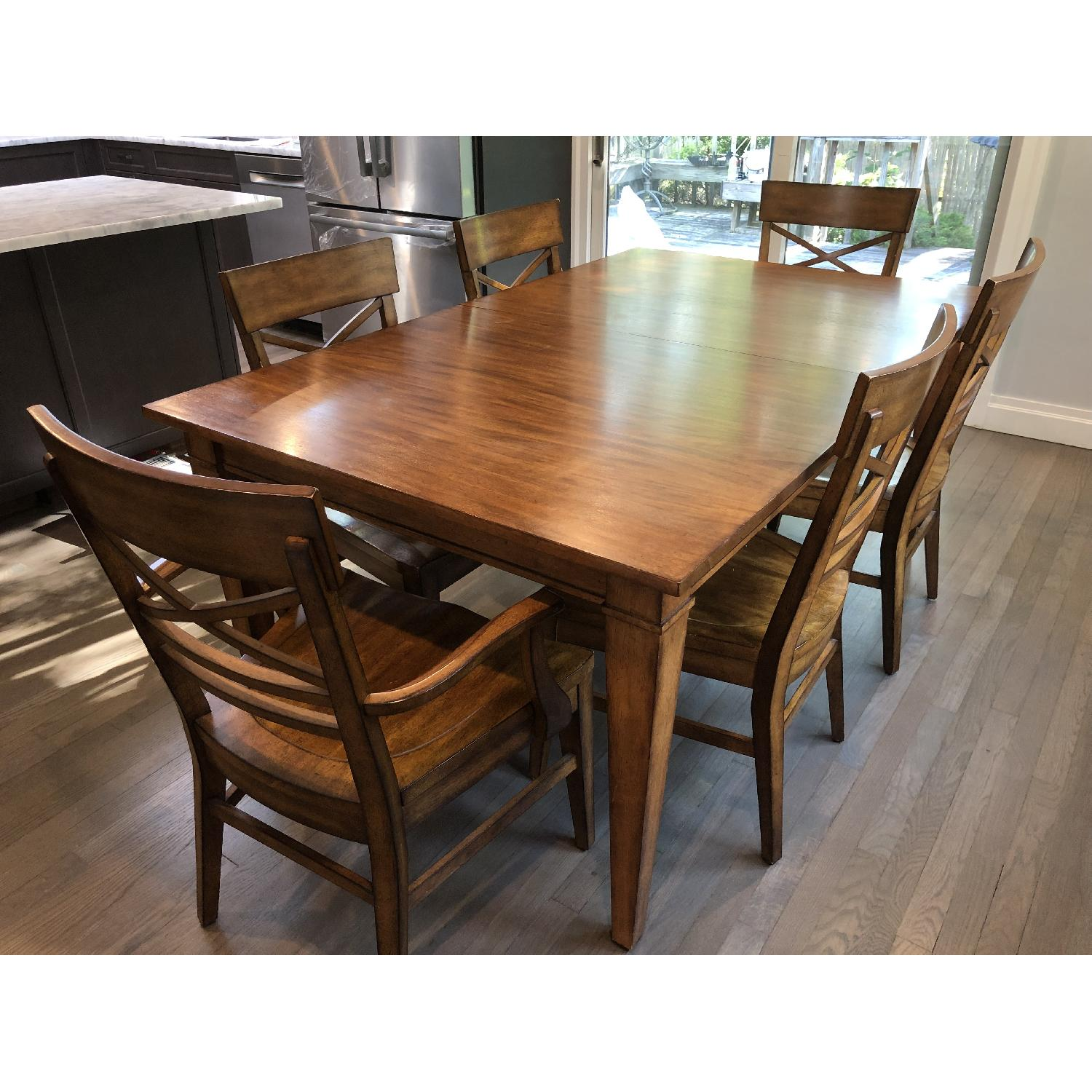 Ethan Allen Extension Dining Table w/ 6 Chairs - image-0