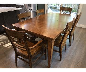 Ethan Allen Extension Dining Table w/ 6 Chairs