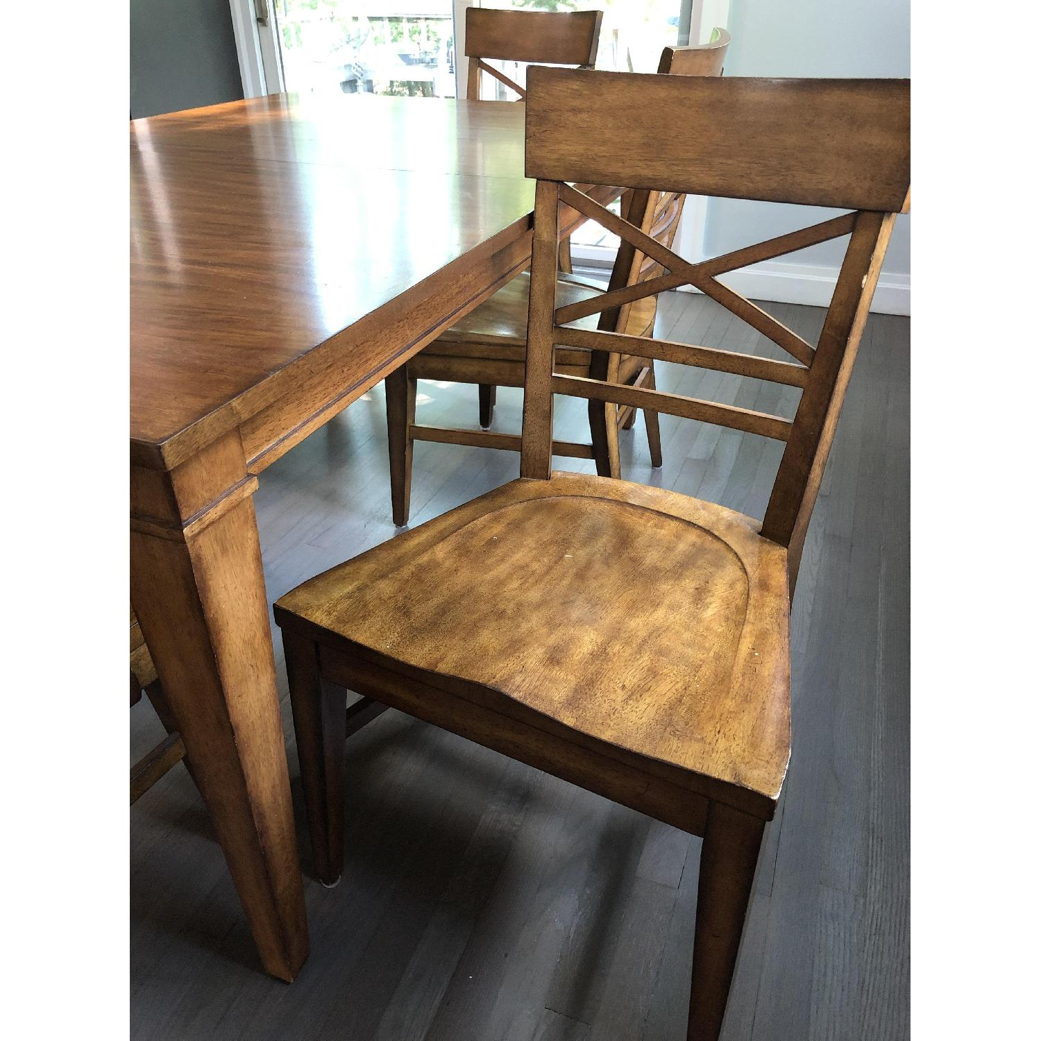 Ethan Allen Extension Dining Table w/ 6 Chairs - image-3