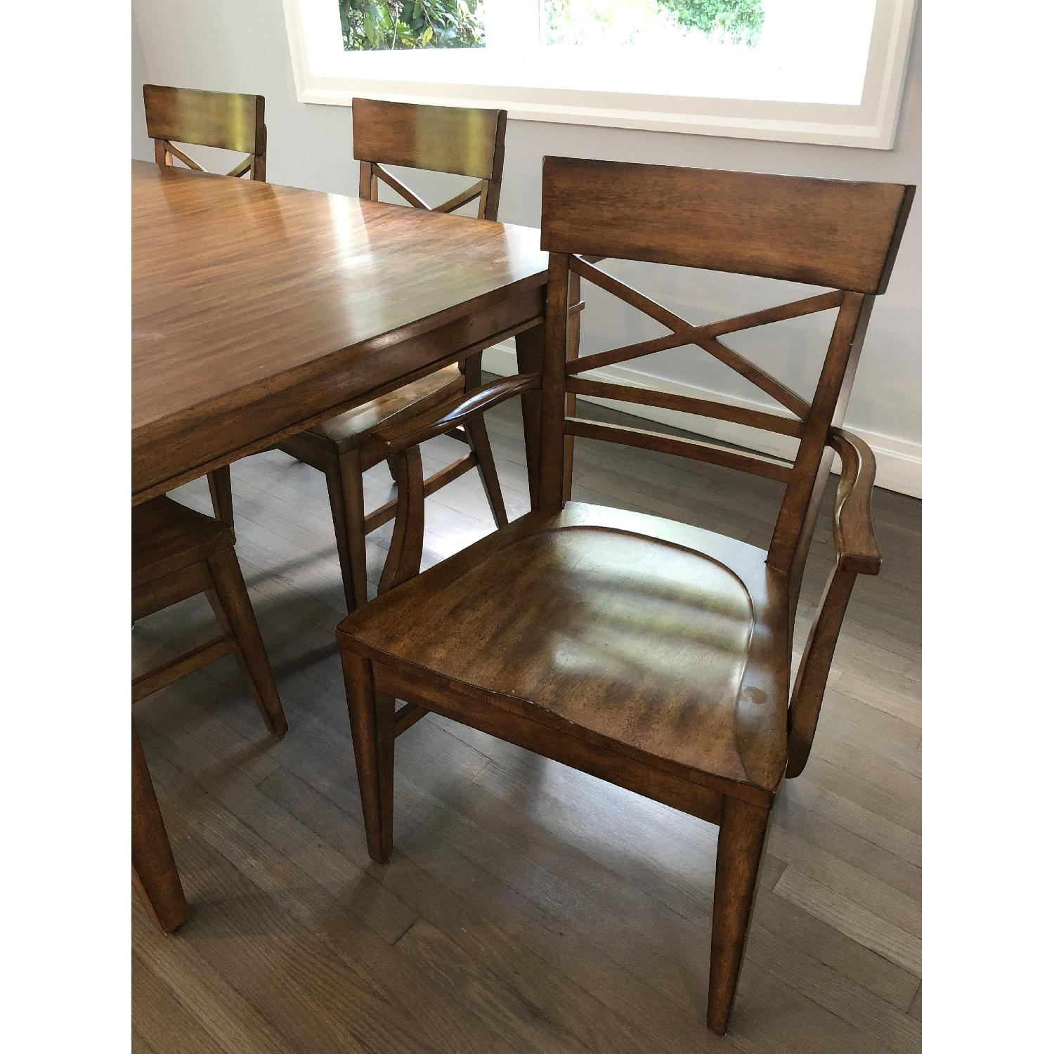 Ethan Allen Extension Dining Table w/ 6 Chairs - image-4