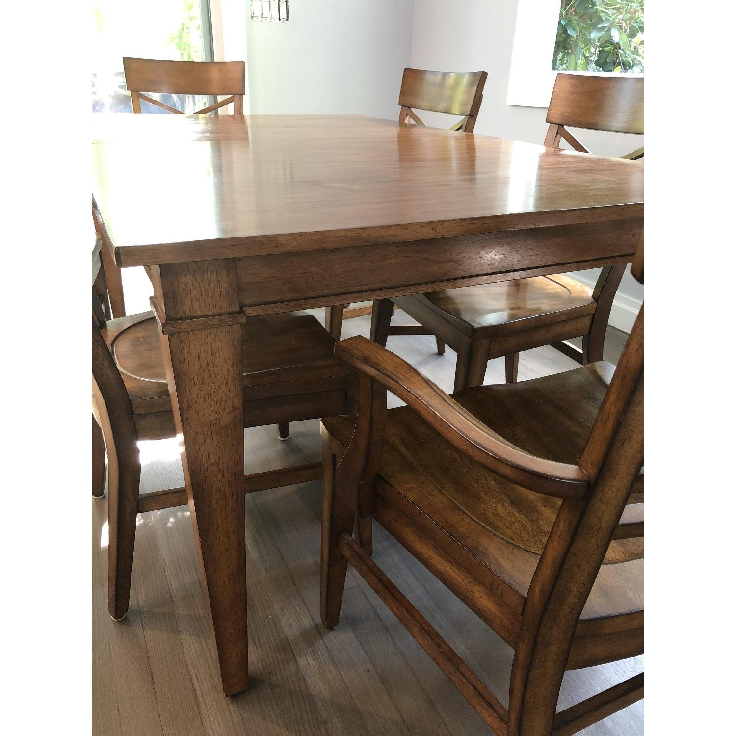 Ethan Allen Extension Dining Table w/ 6 Chairs - image-5