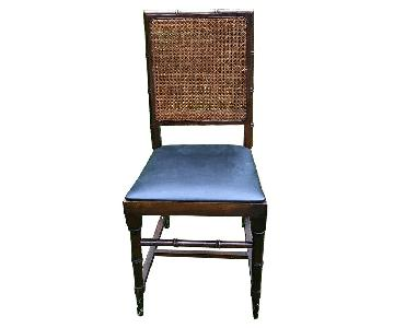 Norquist Faux Bamboo & Cane Folding Table w/ 4 Chairs