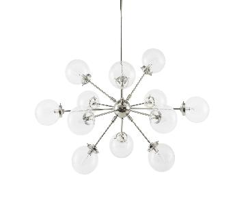 Carson Sputnik Polished Nickel Chandelier w/ Glass Spheres